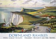 Downland Rambles, Beachy Head, Eastbourne, Sussex. BR Vintage Travel Poster by Allinson